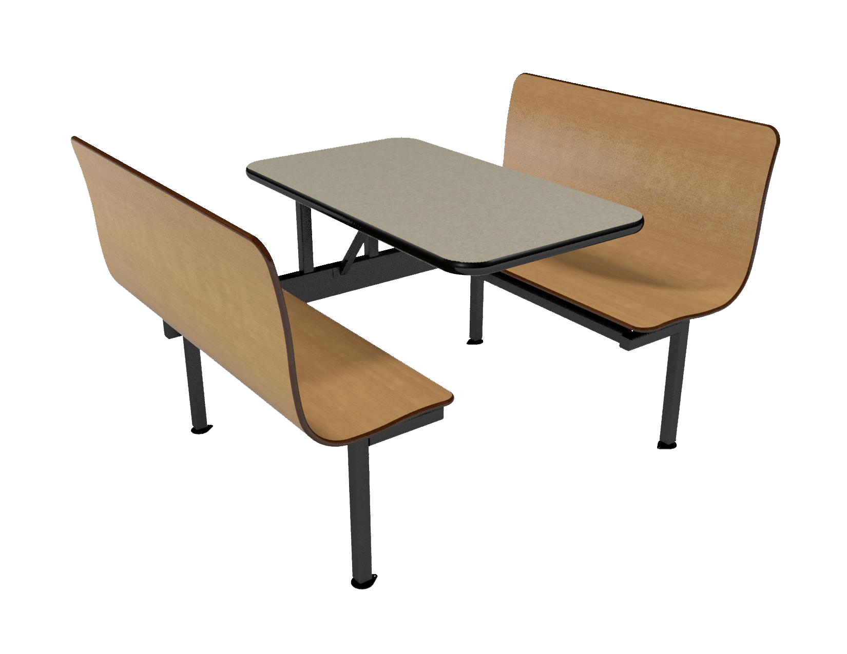 42 Wall Style Contour Booth Vinyl Edge Table