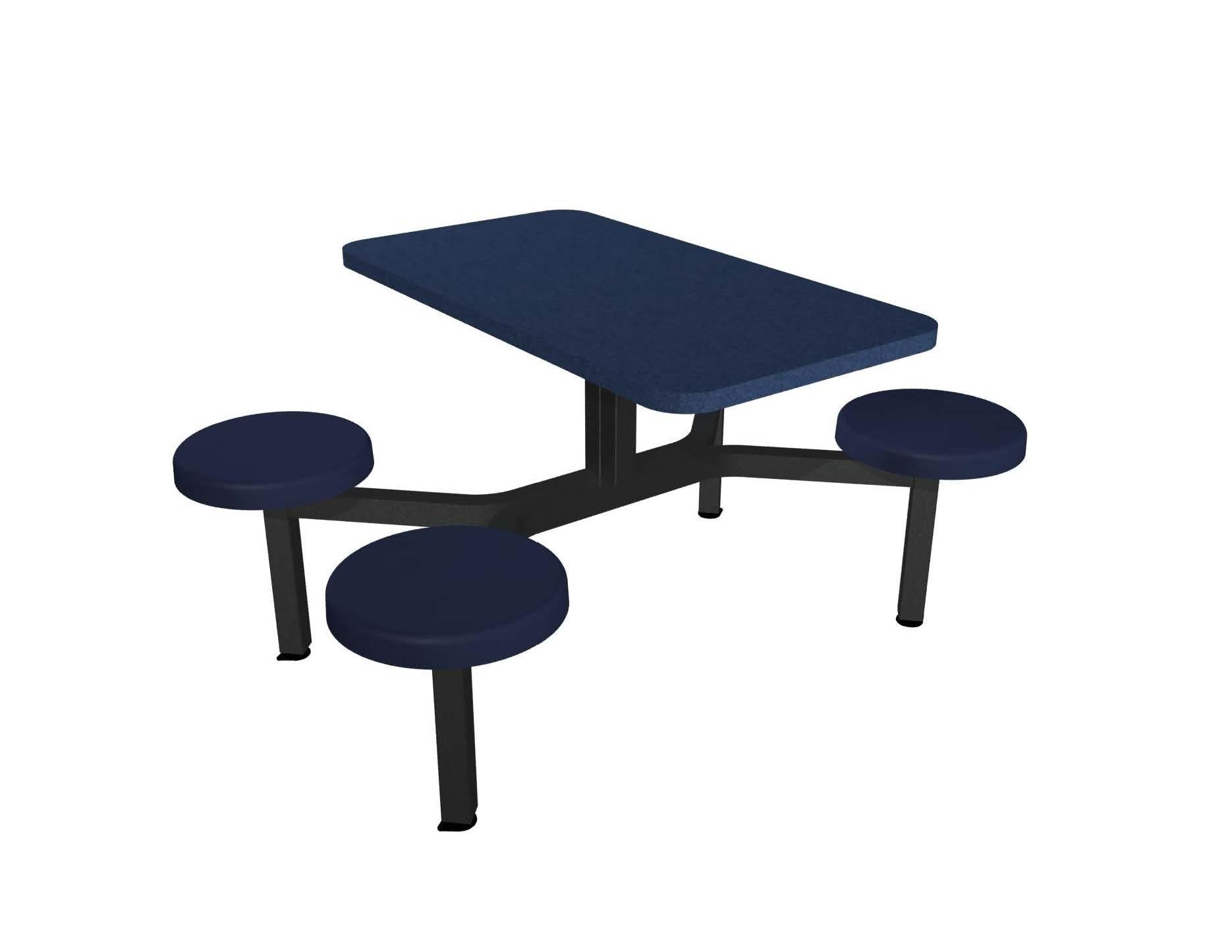 Cebra 4 Seat Island Unit Composite Button Seats Millennium Seating Usa Restaurant