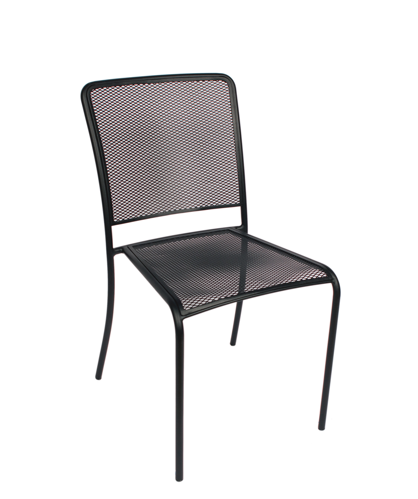 Chesapeake Outdoor Side Chair Micro Mesh Seat & Back Powder Coated