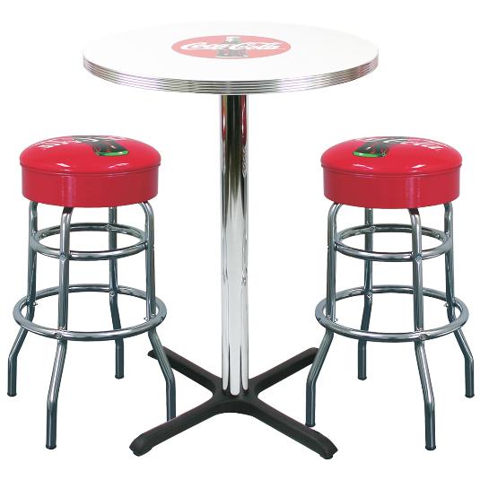 Delightful Coke Bar Table U0026 2 Stool Set