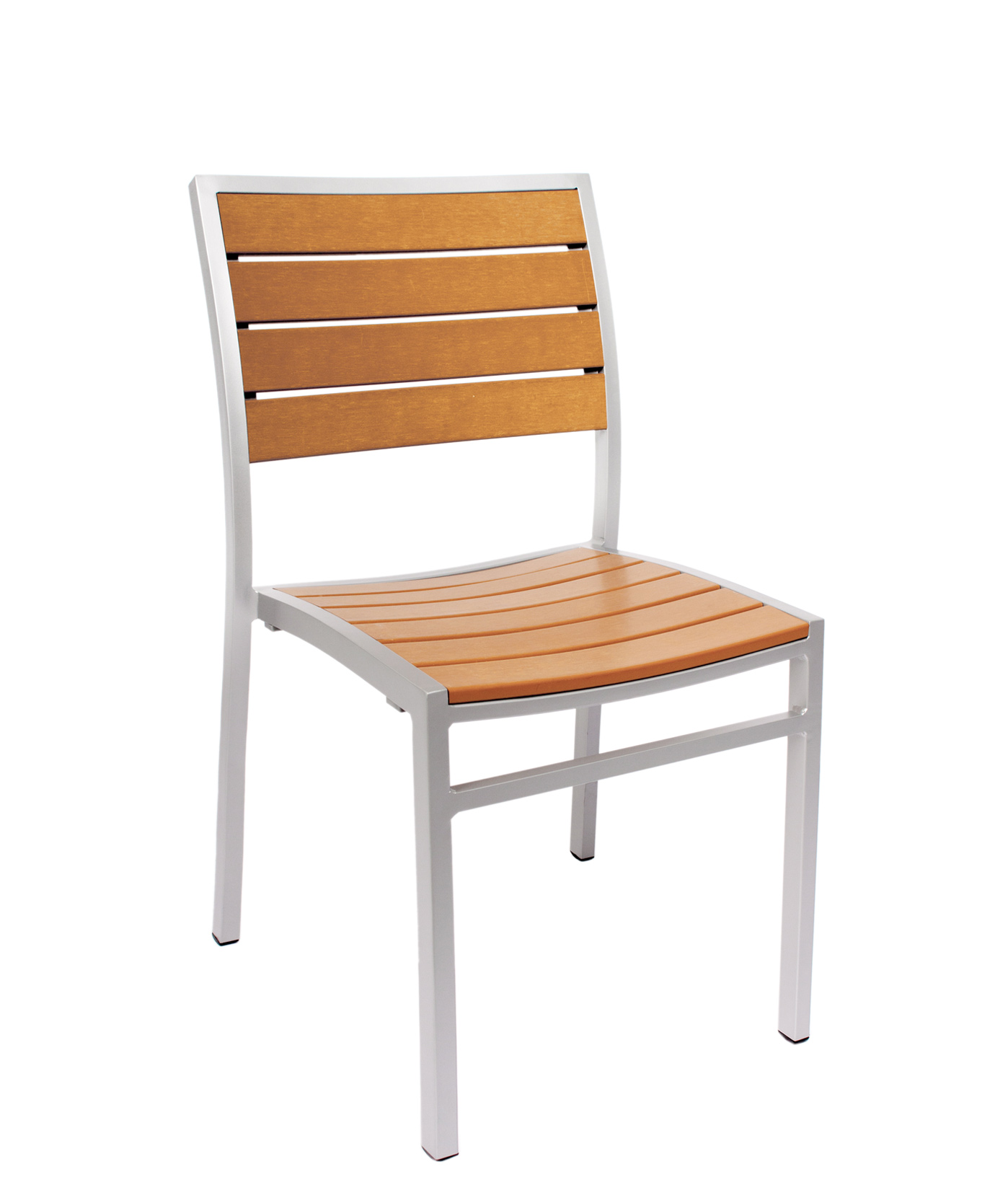 Largo Outdoor Side Armchair - Synthetic Teak Slats, Powder Coated ...