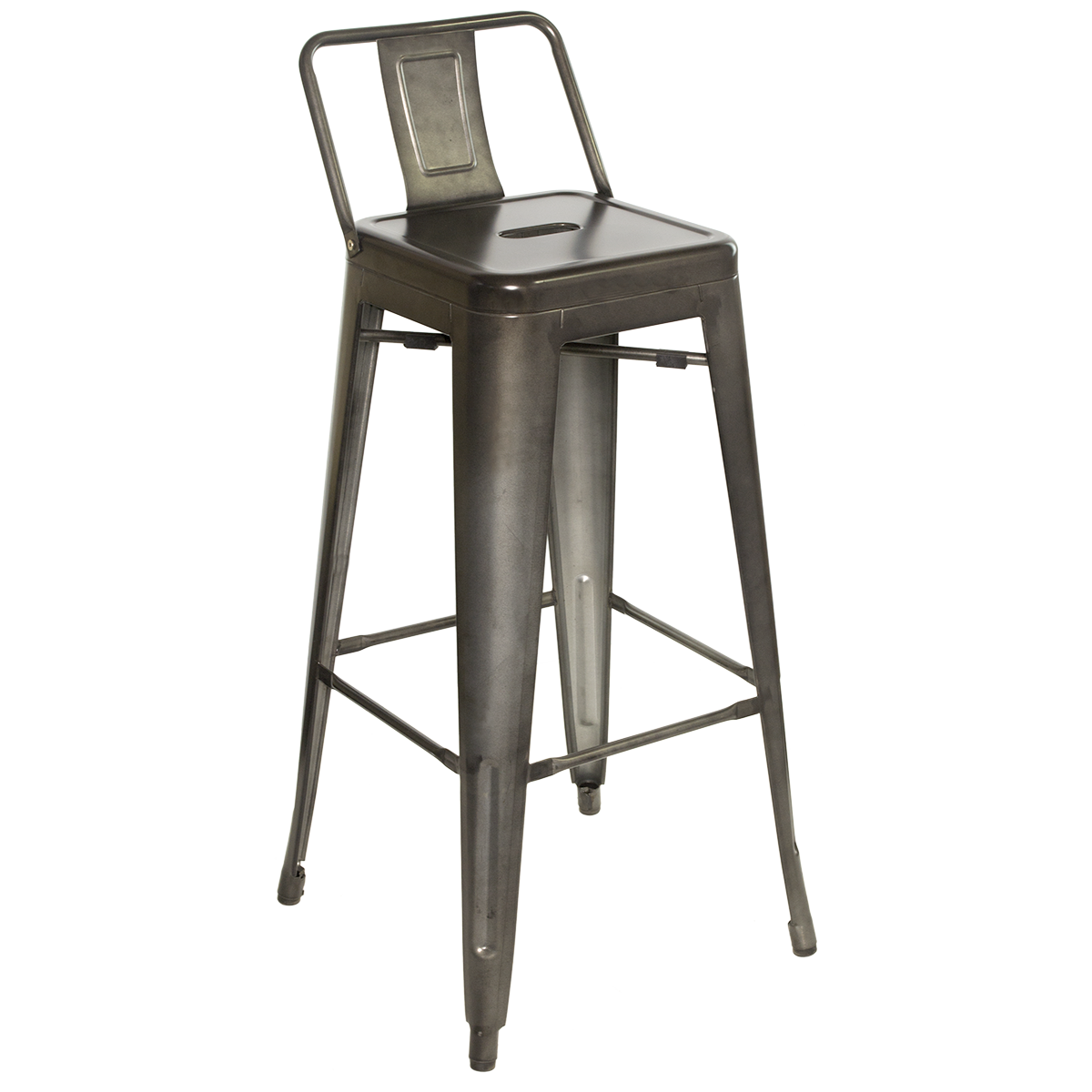 industrial bar stools with backs amisco akers counter swivel metal stool 26inch free shipping. Black Bedroom Furniture Sets. Home Design Ideas