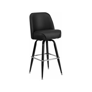 Metal Bar Stool With Bucket Seat Millennium Seating