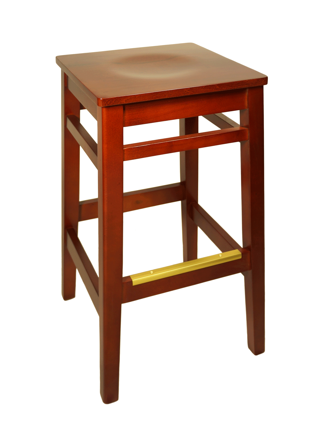 Trevor Backless Wood Bar Stool Millennium Seating Usa