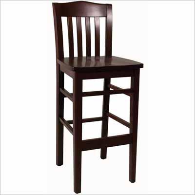 Slat Back Wood Bar Stool Millennium Seating
