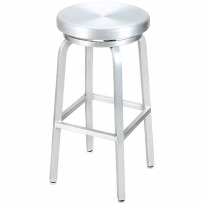 Classic Aluminum Outdoor Swivel Bar Stool Millennium Seating