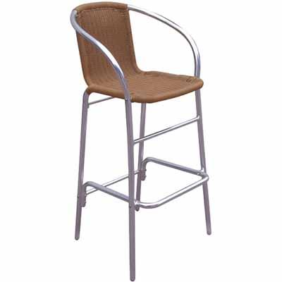 Newport Aluminum/Wicker Outdoor Bar Stool  sc 1 st  Millennium Seating & Newport Aluminum/Wicker Outdoor Bar Stool | Millennium Seating ... islam-shia.org