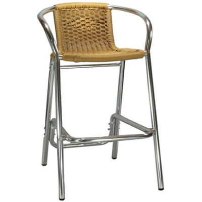 Awesome Outdoor Rattan Patio Bar Stool