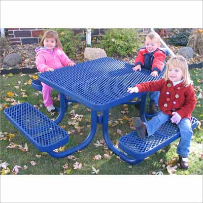 Childrens Champions Picnic Table Millennium Seating - Mesh picnic table