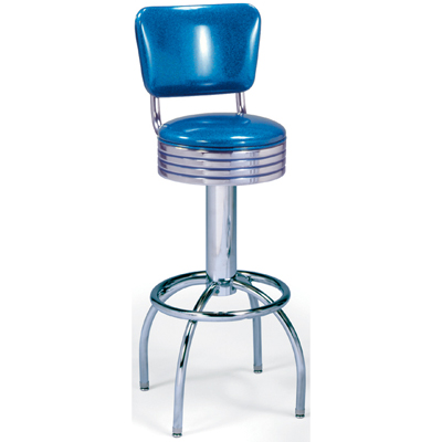 s Diner Stool with Arch Leg and Back