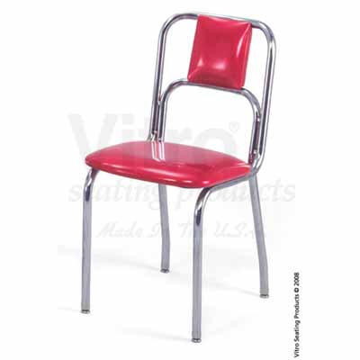 50u0027s Chrome Retro Diner Chair