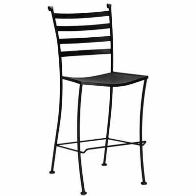 Superior Wrought Iron Outdoor Patio Bar Stool Without Arms