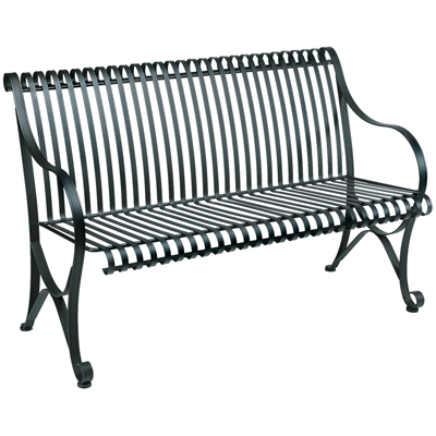 Marvelous Wrought Iron Outdoor Patio Bench