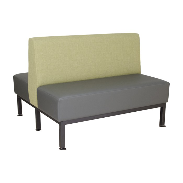 Mesa double upholstered booth quot standard vinyl