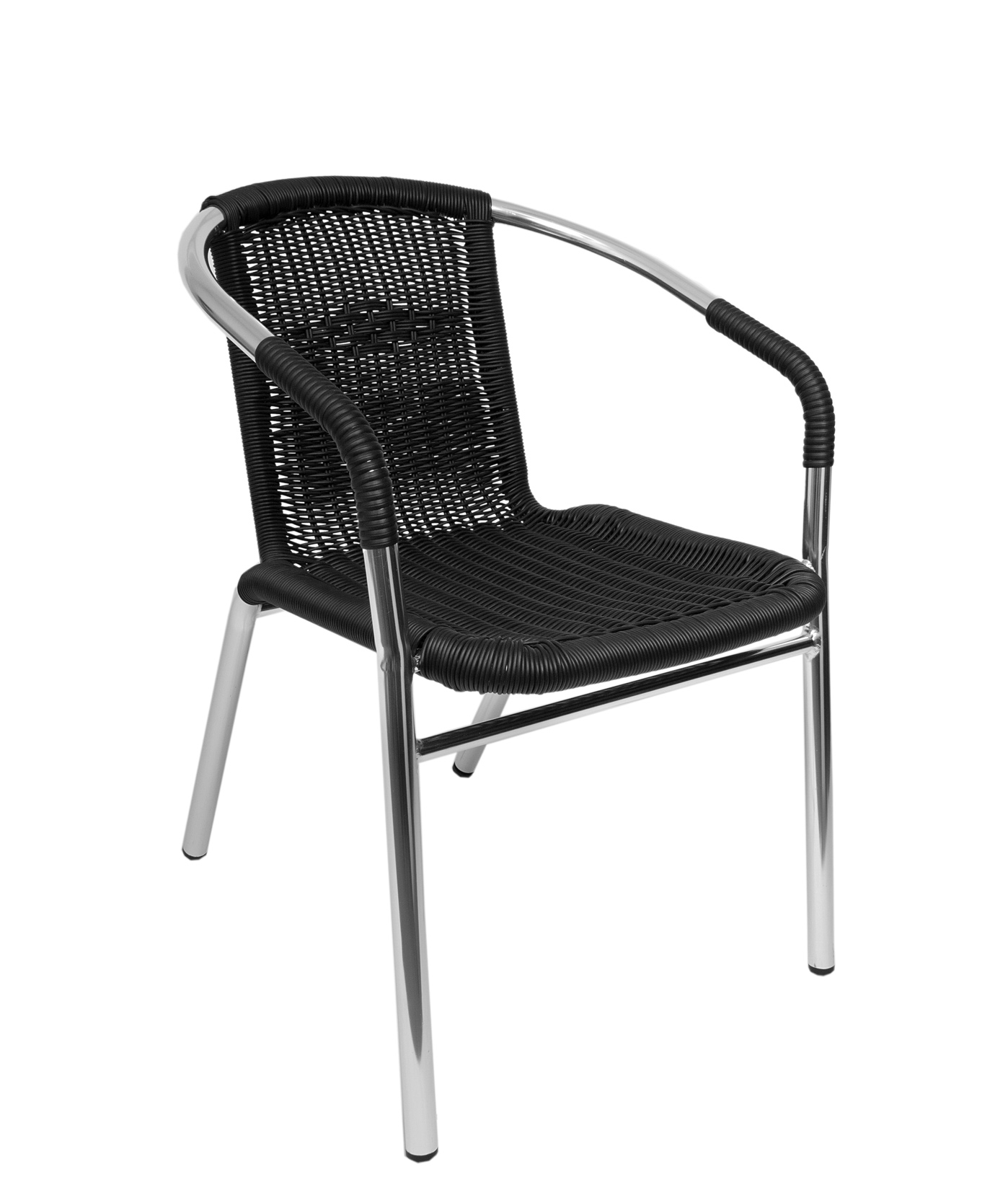 Madrid Outdoor Stacking Chair With Anodized Aluminum U0026 Synthetic Wicker