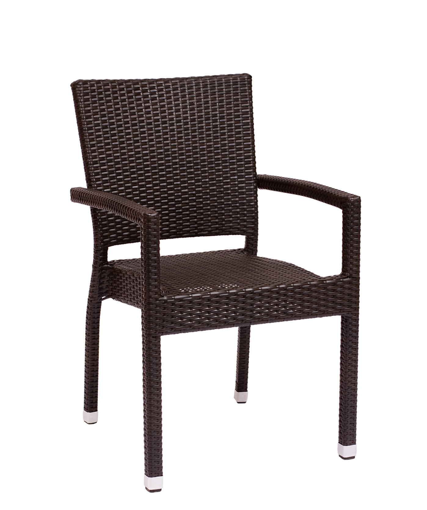 Monterey Outdoor Stacking Armchair - Aluminum Frame - Java Synthetic ...