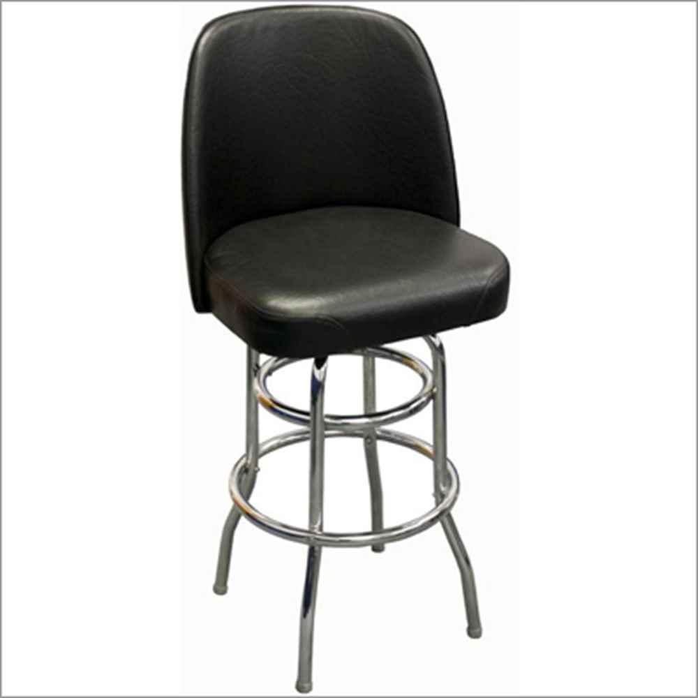 Jumbo Seat Double Ring Swivel Bar Stool Millennium Seating