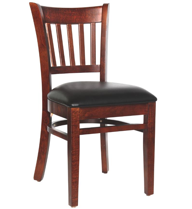 Quick ship wood floating slat back chair millennium