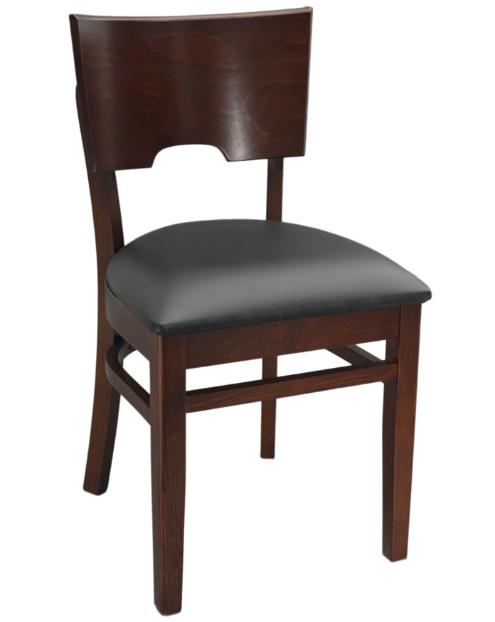 Quick ship wood notched back chair millennium seating