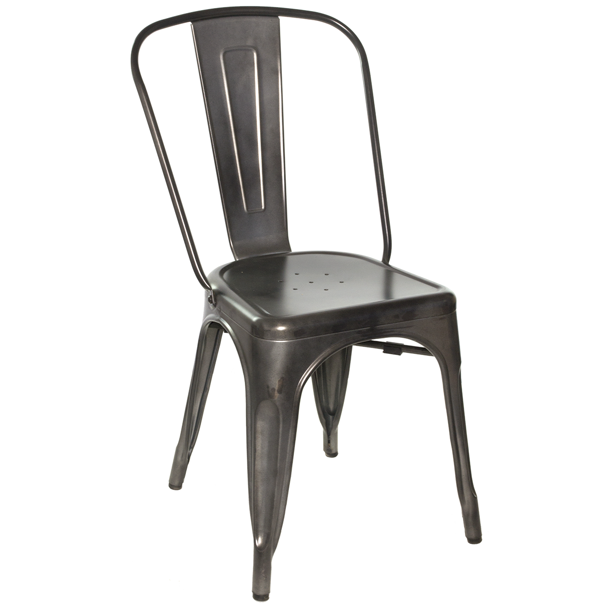 Captivating Metal Galvanized Side Chair